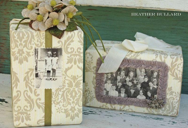 Винтажная упаковка подарков 48